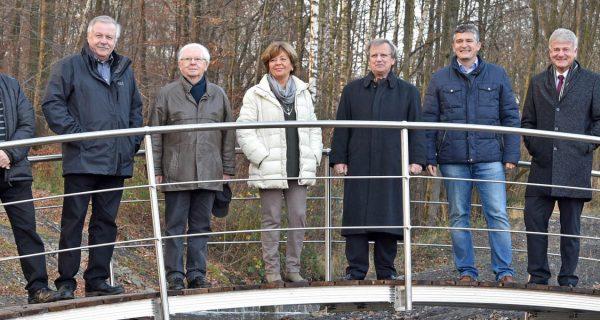 Fußgängerbrücke an der Bergehalde in Göttelborn eröffnet